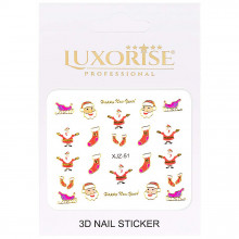 Sticker 3D Unghii Adventure XJZ-51 Christmas Collection, LUXORISE