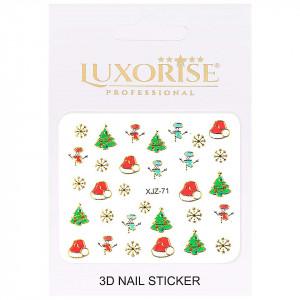 Sticker 3D Unghii Adventure XJZ-71 Christmas Collection, LUXORISE
