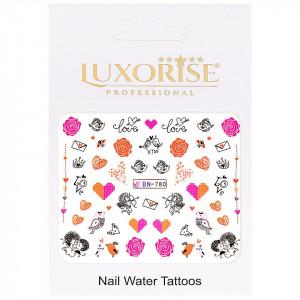 Tatuaj unghii Love BN-780, LUXORISE