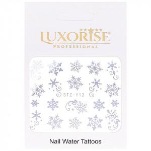 Tatuaj unghii Winter STZ-Y12 argintiu LUXORISE