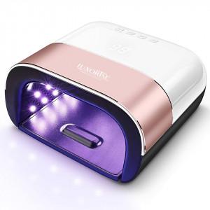 Lampa UV Unghii LUXORISE Hybrid Profesionala 48W Display Digital, Rose Gold
