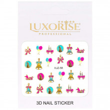 Sticker 3D Unghii Adventure XJZ-58 Christmas Collection, LUXORISE