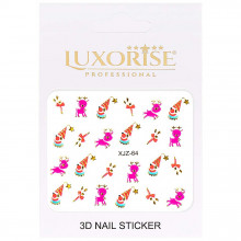 Sticker 3D Unghii Adventure XJZ-64 Christmas Collection, LUXORISE