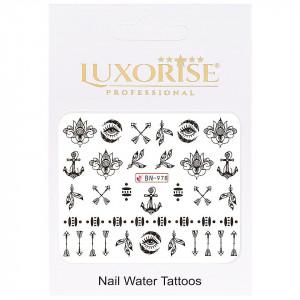 Tatuaj unghii Fantasy BN-978, LUXORISE