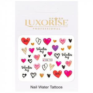 Tatuaj Unghii Love BN-753, LUXORISE