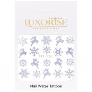 Tatuaj unghii WinterSTZ-Y25 argintiu LUXORISE