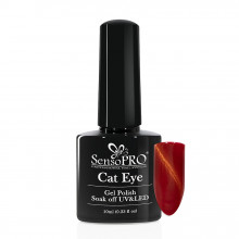 Oja Semipermanenta SensoPRO Cat Eye RubyRed #026, 10ml