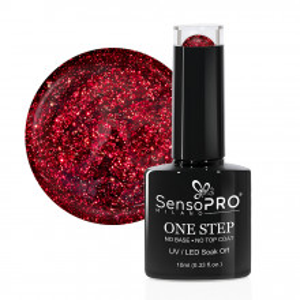 Oja Semipermanenta SensoPRO Milano One Step Red Art #005, 10ml