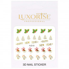 Sticker 3D Unghii Adventure XJZ-53 Christmas Collection, LUXORISE
