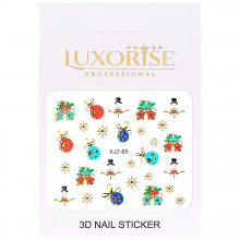 Sticker 3D Unghii Adventure XJZ-65 Christmas Collection, LUXORISE