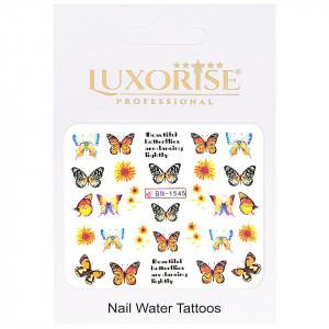 Tatuaj Unghii Butterfly BN-1545, LUXORISE