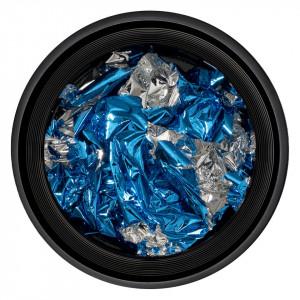 Foita Unghii Unique Blue & Silver #05, LUXORISE