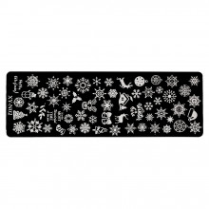 Matrita Metalica Stampila Unghii Snowflake Tale, LUXORISE