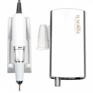 Pila electrica portabila unghii LUXORISE Revolution PRO, 30.000 RPM, Silver