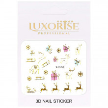 Sticker 3D Unghii Adventure XJZ-59 Christmas Collection, LUXORISE