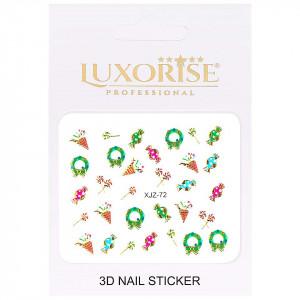Sticker 3D Unghii Adventure XJZ-72 Christmas Collection, LUXORISE