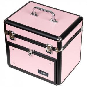 Geanta Produse Cosmetice din Aluminiu, Pink Euphoria - LUXORISE