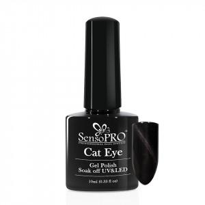 Oja Semipermanenta SensoPRO Cat Eye Black Panther #010, 10ml