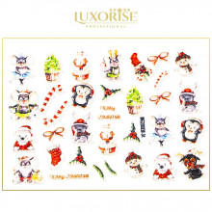 Tatuaj 3D Unghii LUXORISE, Happy Christmas