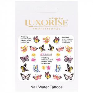 Tatuaj Unghii Butterfly BN-1546, LUXORISE