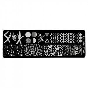 Matrita Metalica Stampila Unghii Geometric Art & Love, LUXORISE