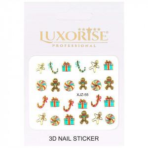 Sticker 3D Unghii Adventure XJZ-55 Christmas Collection, LUXORISE