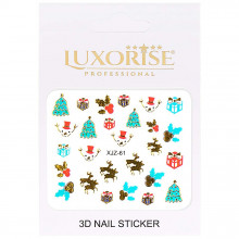 Sticker 3D Unghii Adventure XJZ-61 Christmas Collection, LUXORISE