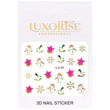 Sticker 3D Unghii Adventure XJZ-66 Christmas Collection, LUXORISE