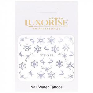 Tatuaj unghii Winter STZ-Y15 argintiu LUXORISE