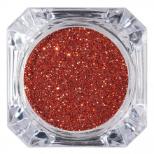 Sclipici Glitter Unghii Pulbere Orange Red #32, LUXORISE