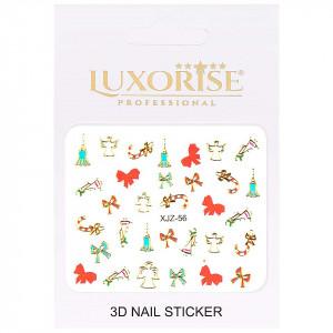 Sticker 3D Unghii Adventure XJZ-56 Christmas Collection, LUXORISE