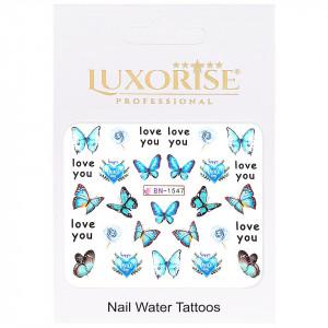 Tatuaj Unghii Butterfly BN-1547, LUXORISE