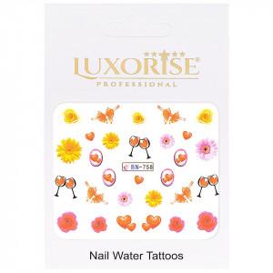 Tatuaj Unghii Love BN-758, LUXORISE