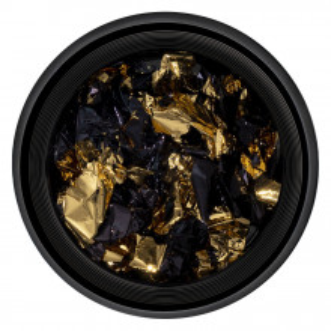 Foita Unghii Unique Gold & Black #01, LUXORISE