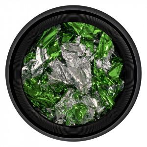 Foita Unghii Unique Green & Silver #06, LUXORISE
