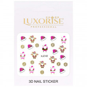 Sticker 3D Unghii Adventure XJZ-62 Christmas Collection, LUXORISE