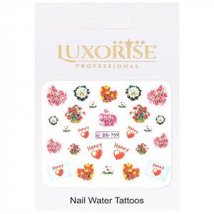 Tatuaj Unghii Love BN-759, LUXORISE