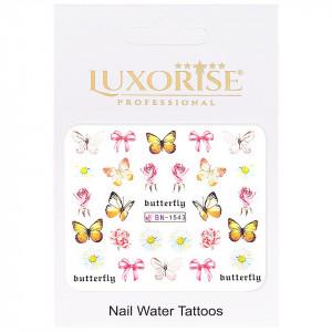 Tatuaj Unghii Butterfly BN-1543, LUXORISE