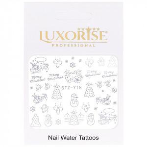 Tatuaj unghii Winter STZ-Y18 argintiu LUXORISE