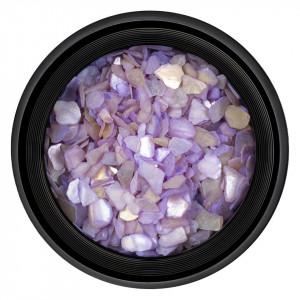 Decor Unghii tip Scoica Pisata Purple, LUXORISE