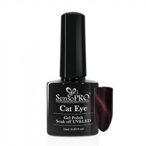 Oja Semipermanenta SensoPRO Cat Eye PoppyPlum #030, 10ml
