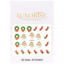 Sticker 3D Unghii Adventure XJZ-57 Christmas Collection, LUXORISE
