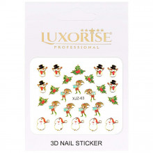 Sticker 3D Unghii Adventure XJZ-63 Christmas Collection, LUXORISE