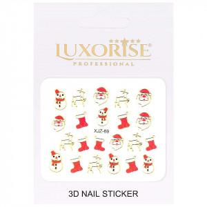 Sticker 3D Unghii Adventure XJZ-69 Christmas Collection, LUXORISE