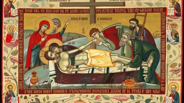 """Sâmbăta Patimilor: """"Deşertat de slavă divină şi de toată strălucirea Sa umană, Hristos biruie împotriva tuturor pariorilor care plusează pe înfrângerea Sa. Şi ne arată că sfinţenia este un adânc de smerenie"""""""
