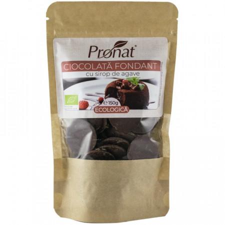 Ciocolata fondant BIO cu sirop de agave 150g