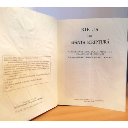COPERTA SI CONTINUT DETERIORAT - Biblia tradusa de Bartolomeu Anania