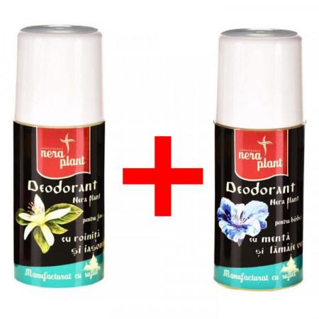 Pachet Promo: Deodorant femei + Deodorant barbati Nera Plant