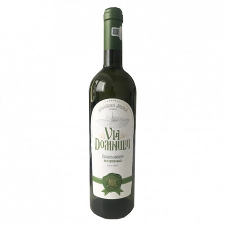 Vin Chardonnay baricat sec, 2018, Via Domnului - Manastirea Jercalai, 0,75l