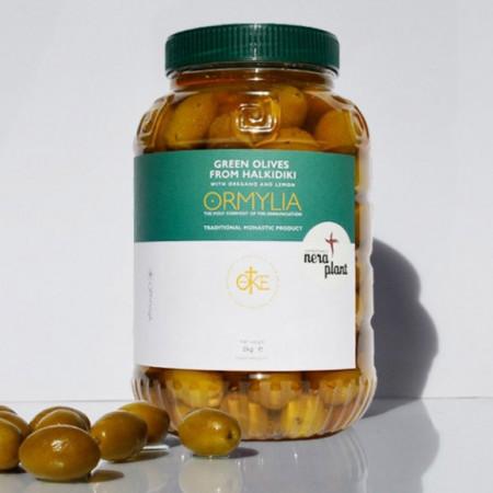Masline verzi cu oregano si lamaie, 1 Kg
